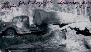 Yellowstone Lumber first log haul in 1936