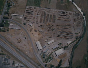 aerial view of Yellowstone Lumber in Rigby, Idaho