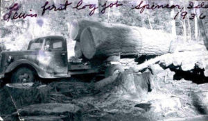 The history of Yellowstone Lumber, their first log job in 1936