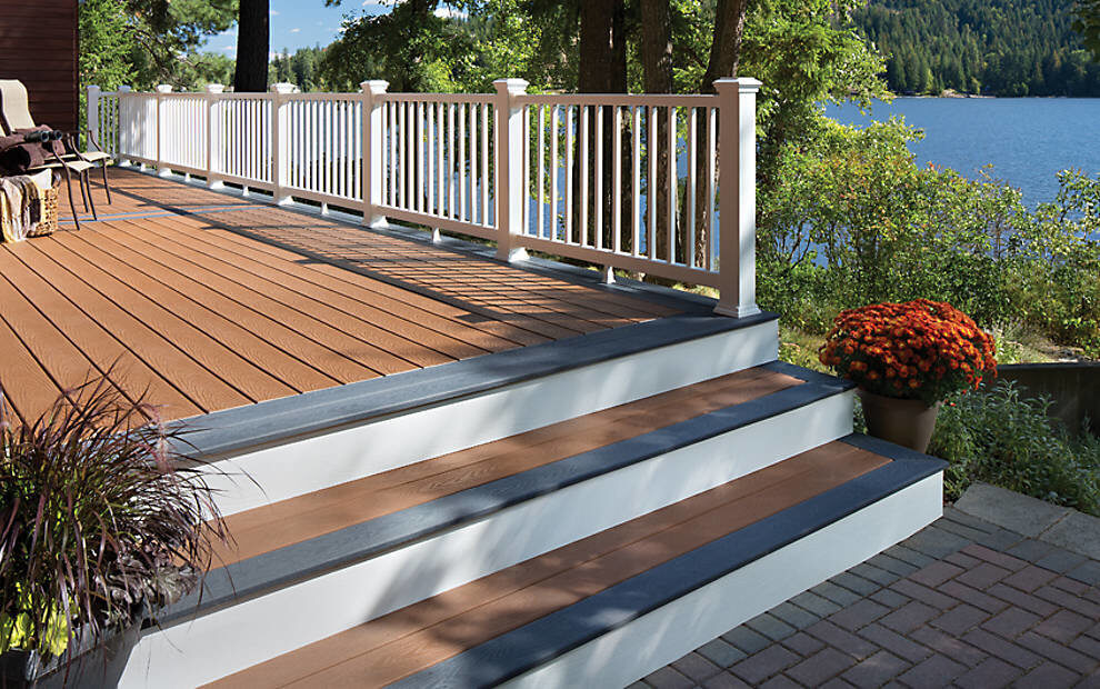 Trex Decking in winchester grey, available at Yellowstone Lumber in Rigby, Idaho